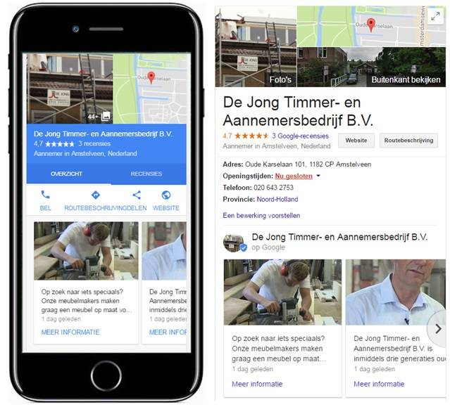 google posts mobiel desktop